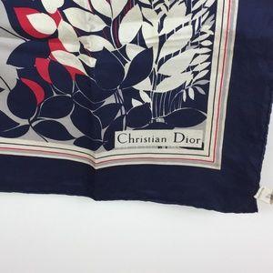 Vintage Christian Dior 100% Silk Scarf I0574